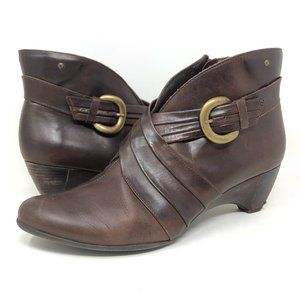 Pikolinos Ginebra Ankle Boot Black Buckle Wedge